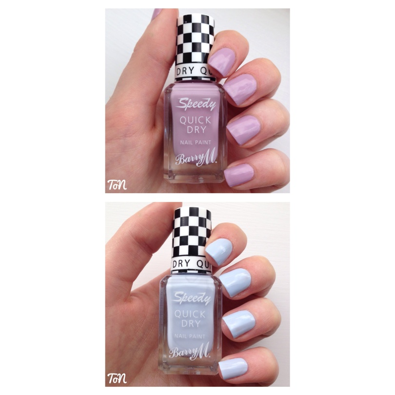 Barry M Speedy Quick Dry Nail Paint - Lap of Honour and Eat My Dust
