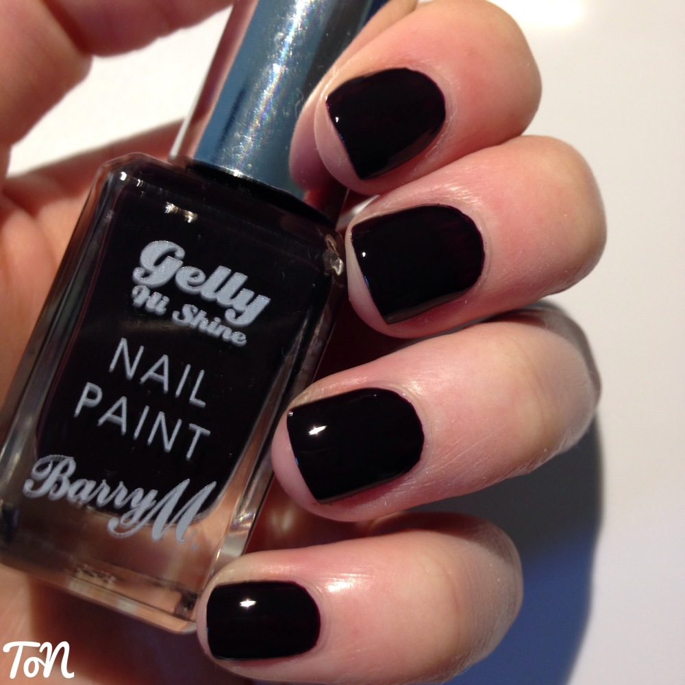Barry M Gelly Hi-Shine Autumn/Winter 2015 Swatches - Midnight and Glitter (3/6)