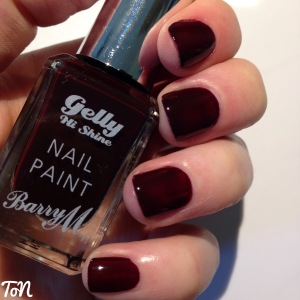 Barry M Gelly Hi Shine Black Cherry