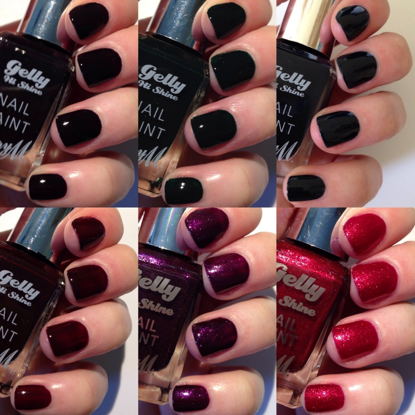 Barry M Gelly Hi-Shine Autumn/Winter 2015 Swatches