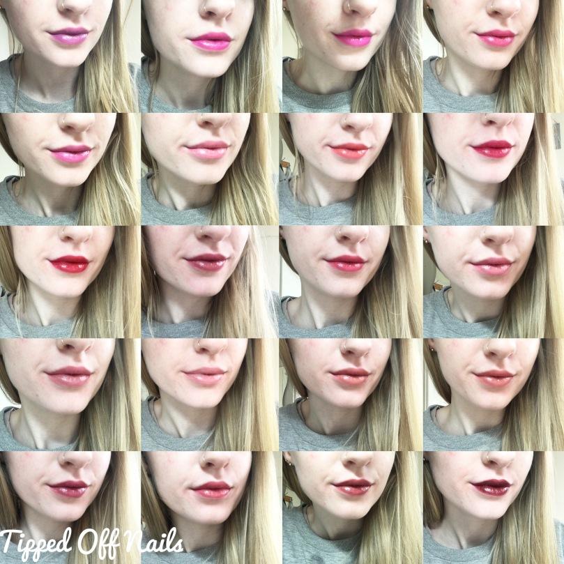 makeup revolution liphug lipstick swatches