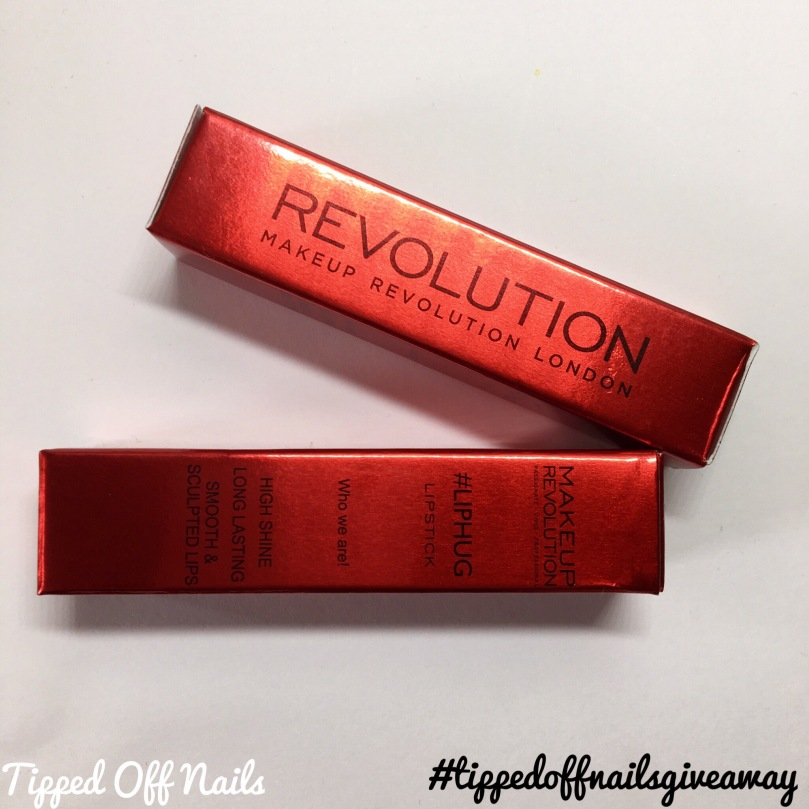 Makeup revolution liphug lipstick swatches and giveaway