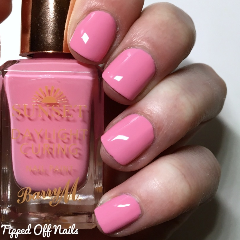 Barry M Sunset Gels Pinking Out Loud