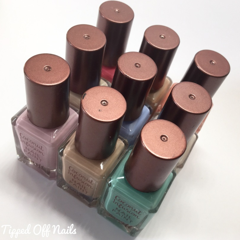 Barry M Coconut Infusion Nail Paint Swatches