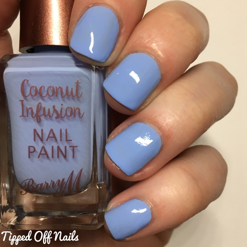 Barry M Coconut Infusion Laguna Swatches