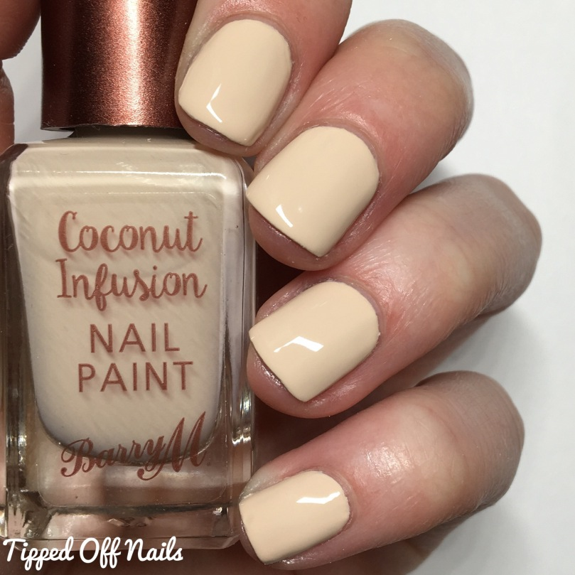 Barry M Coconut Infusion Skinny-dip Swatches