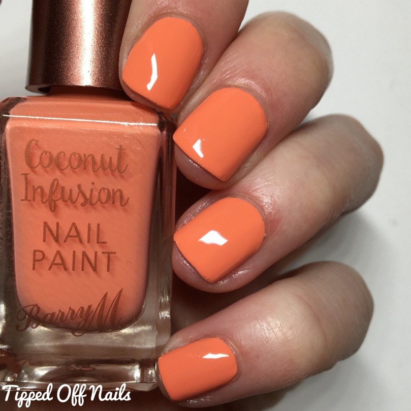 Barry M Coconut Infusion Flamingo Swatches