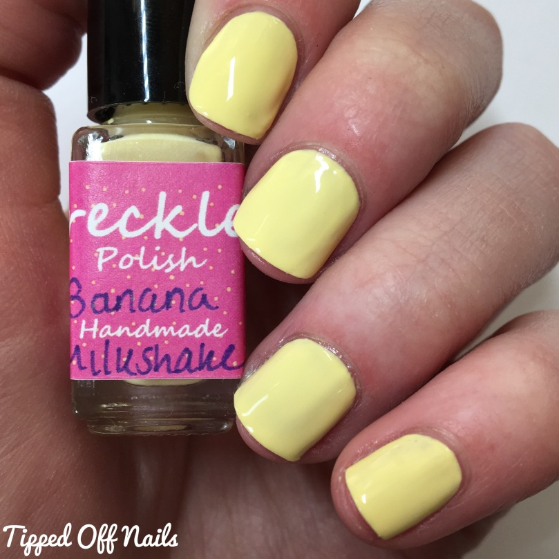 Freckles Polish Creme Collection Banana Milkshake Swatches