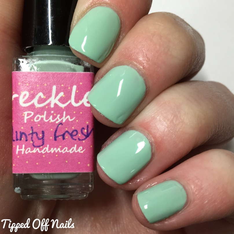 Freckles Polish Creme Collection Minty Fresh Swatches