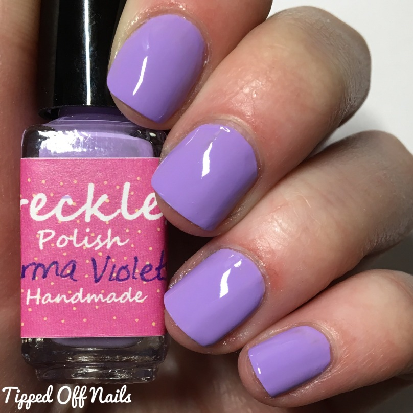 Freckles Polish Creme Collection Parma Violets Swatches