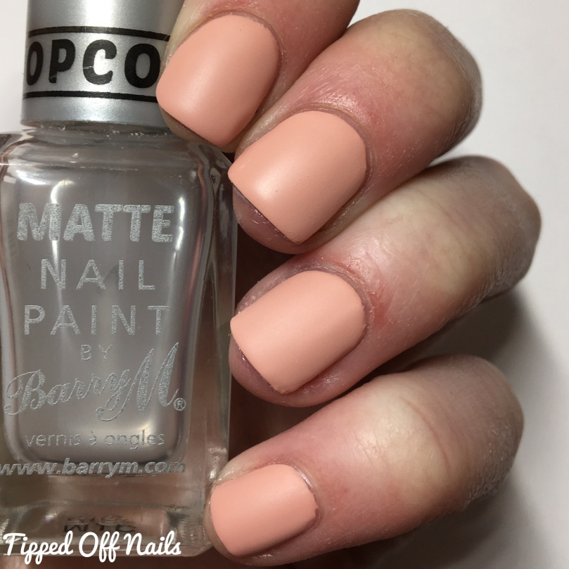 Freckles Polish Creme Collection Fuzzy Peach Swatches