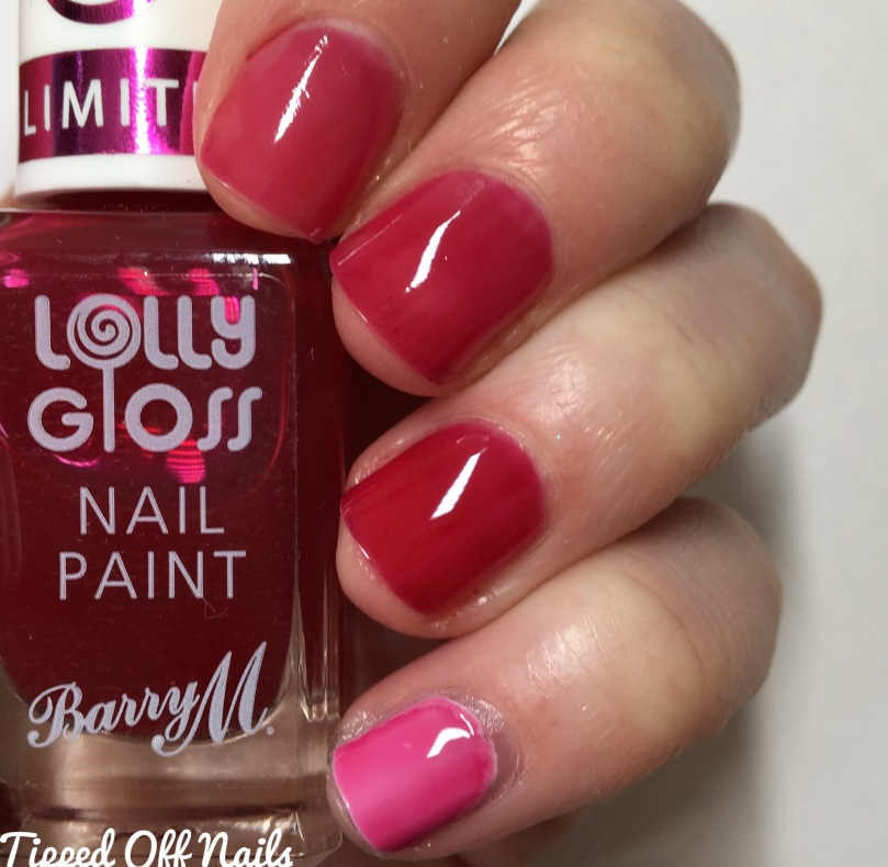 Barry M Lolly Gloss Swatches Cherry Drop