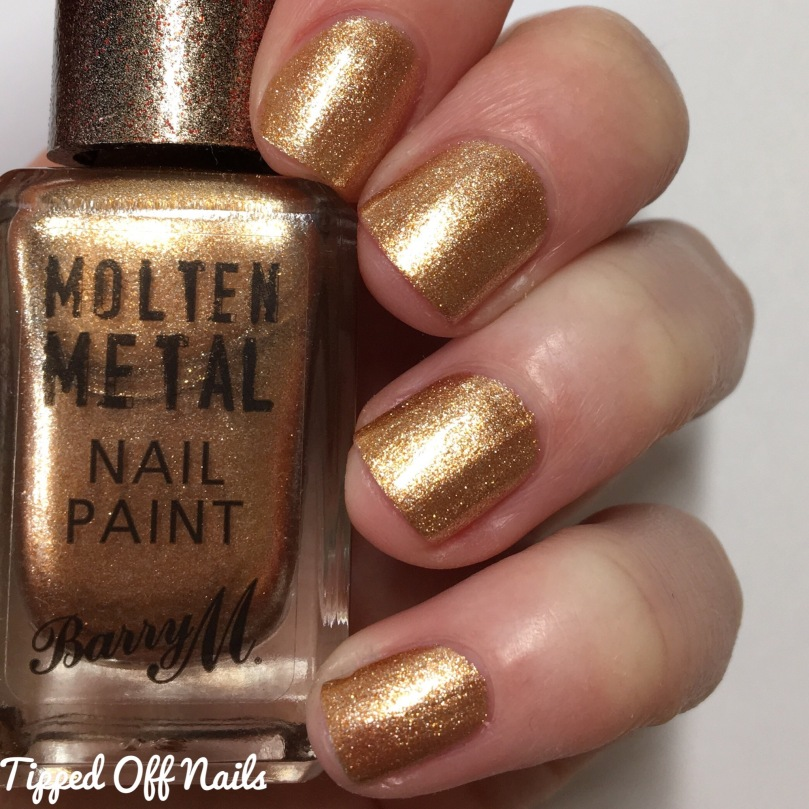 Barry M Molten Metal Swatches Bronze Bae