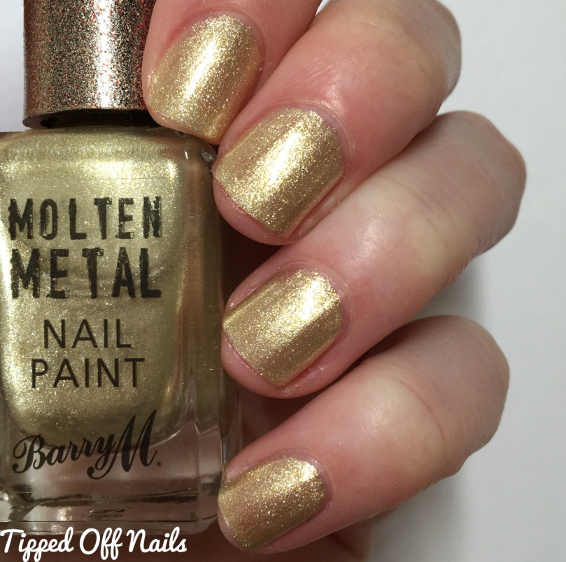 Barry M Molten Metal Swatches Gold Digger