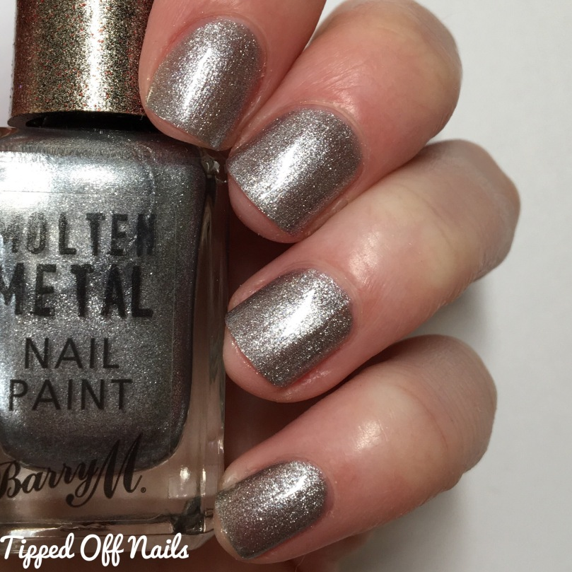 Barry M Molten Metal Swatches Silver Lining