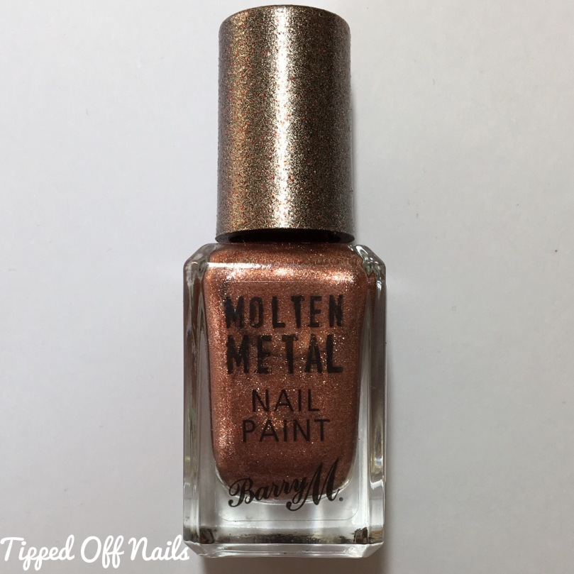 Barry M Molten Metal Swatches Copper Mine