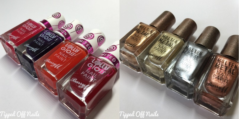 Barry M Molten Metals and Lolly Gloss Swatches