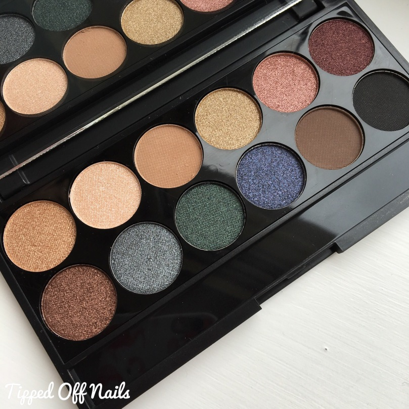 Sleek i-Divine Storm eyeshadow palette swatches