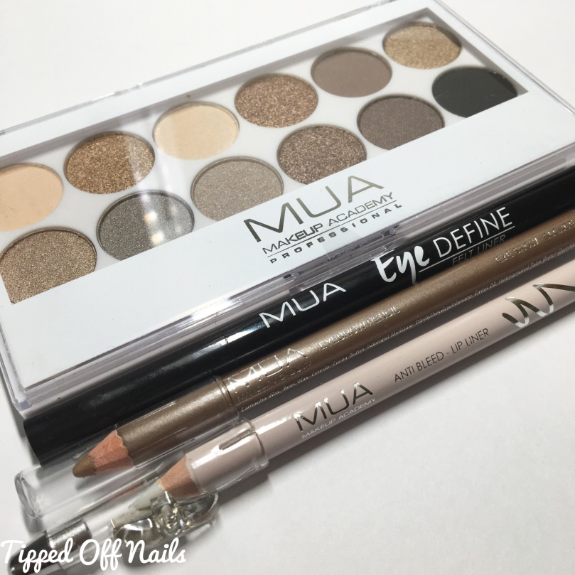 MUA Haul: swatches & review