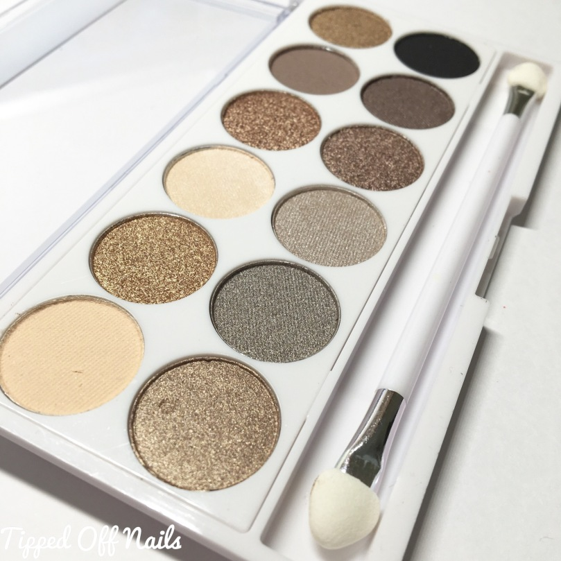 MUA eyeshadow palette swatches: undress me too