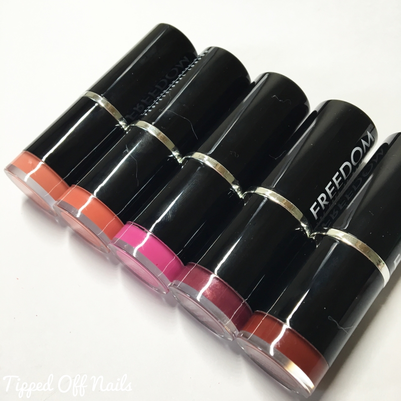 Freedom Pro Lipstick Kit: Now Collection Swatches