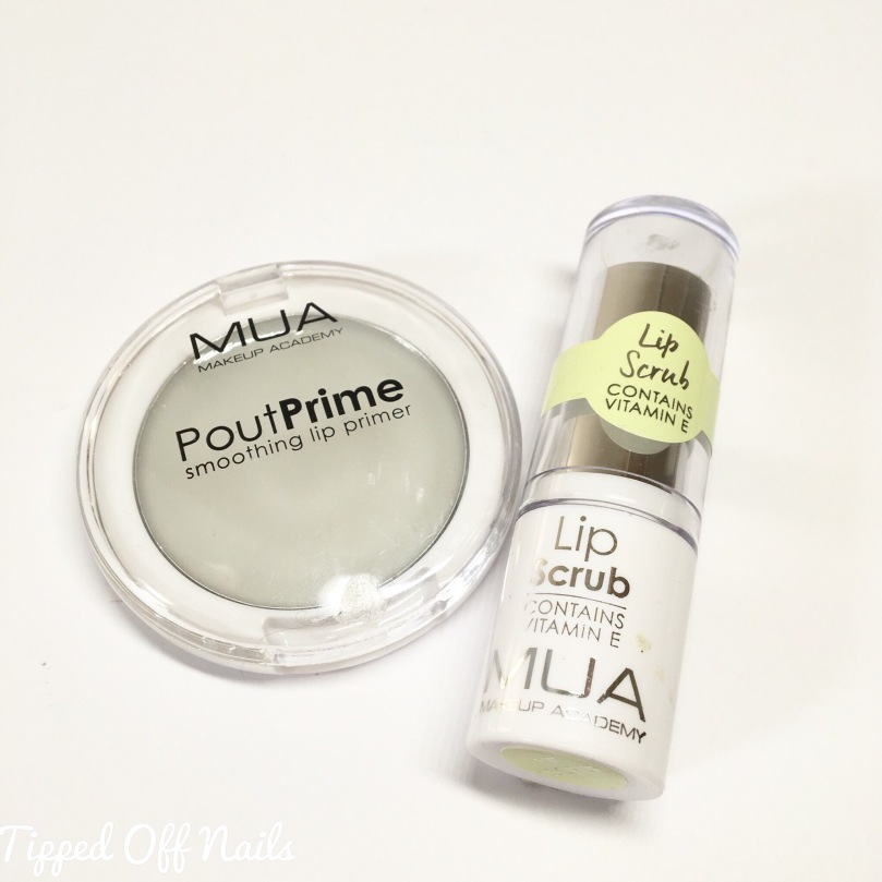MUA Pout Primer and Lip Scrub