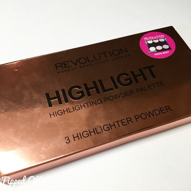 Makeup Revolution Highlighting Palette Highlight Swatches