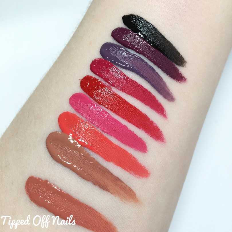MUA Luxe Velvet Lip Lacquer Swatches