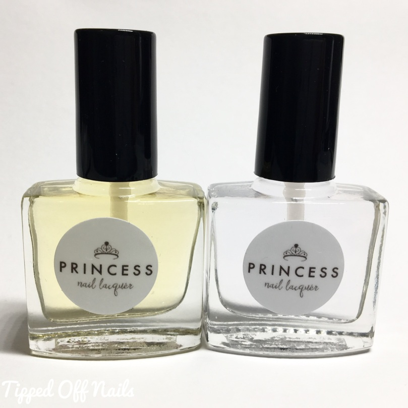 Princess Nail Lacquer Rapunzel's Magic Flower & Glass Slipper Topcoat