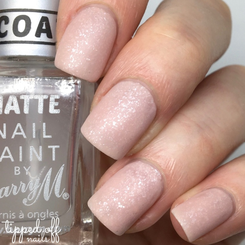 Barry M Frosted Cupcakes Nail Paint Strawberries and Cream Swatches