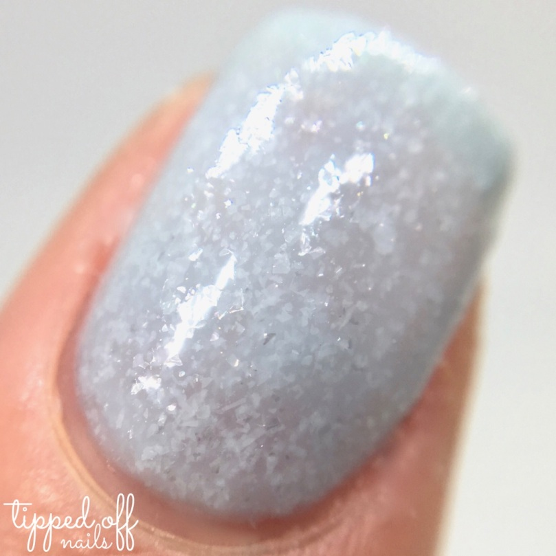 Barry M Frosted Cupcakes Nail Paint Blue Velvet Swatches