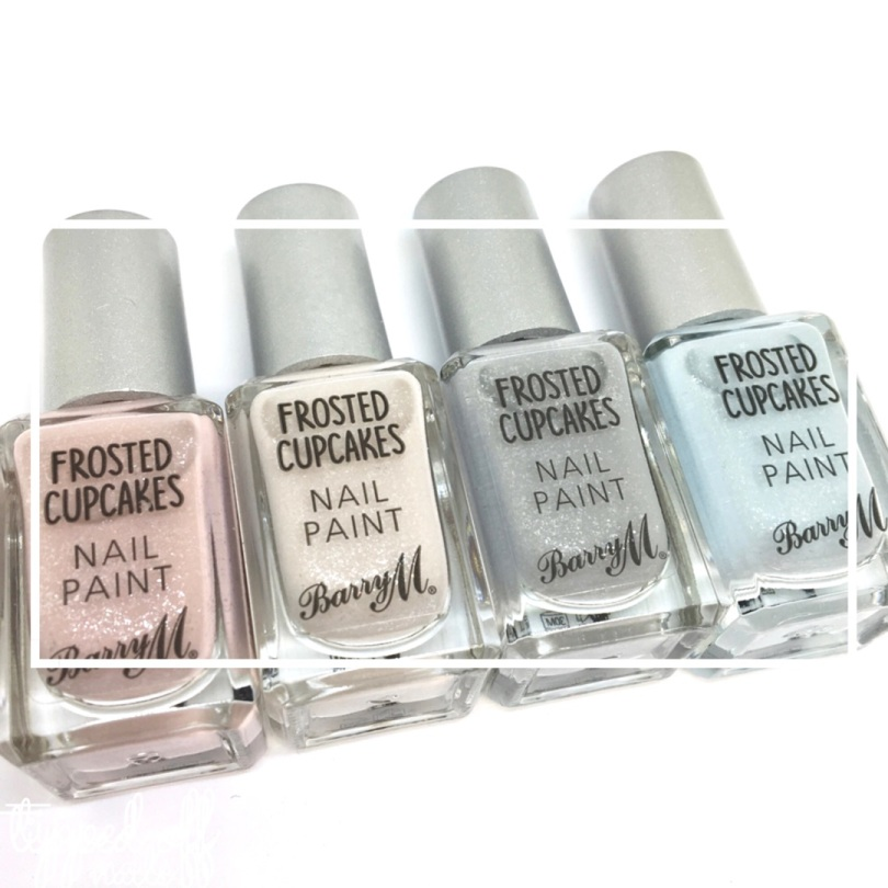 Barry M Frosted Cupcakes Nail Paint Swatches