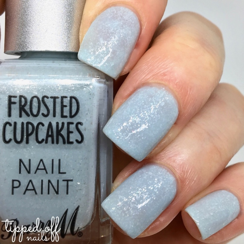 BarrBarry M Frosted Cupcakes Nail Paint Blue Velvet Swatchesy M Frosted Cupcakes Nail Paint Blue Velvet Swatches
