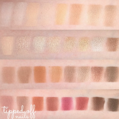 Makeup Revolution Flawless 3 Resurrection Palette Swatches