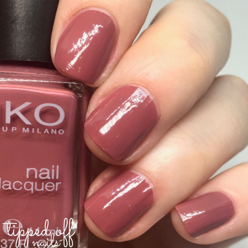 Kiko Milano Nail Lacquer Swatch 365 Tattoo Rose