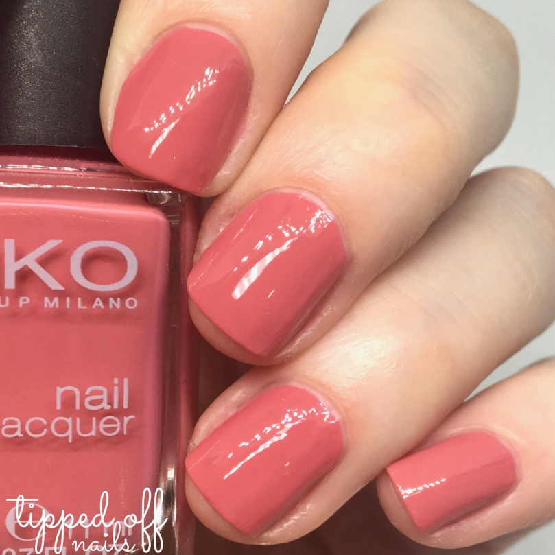 Kiko Milano Nail Lacquer Swatch 486 Tea Rose