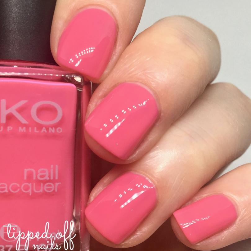 Kiko Milano Nail Lacquer Swatch 282 Coral Pink
