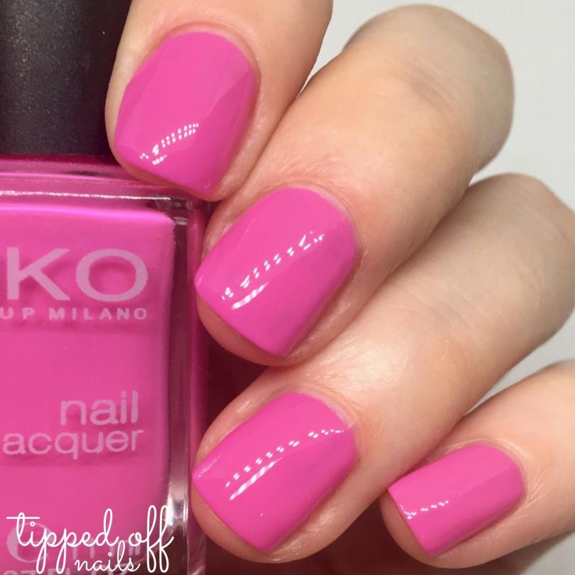 Kiko Milano Nail Lacquer Swatch 288 Flamingo Pink