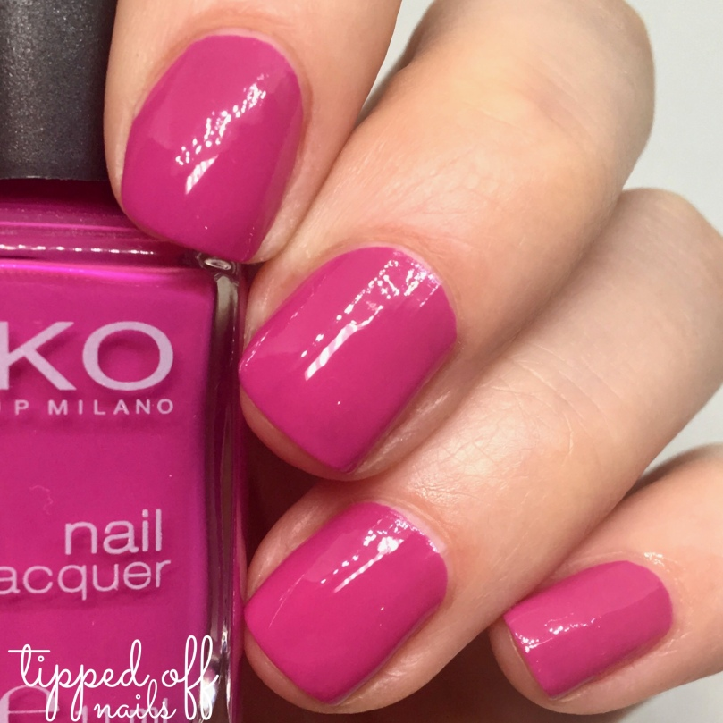 Kiko Milano Nail Lacquer Swatch 313 - Heather Pink