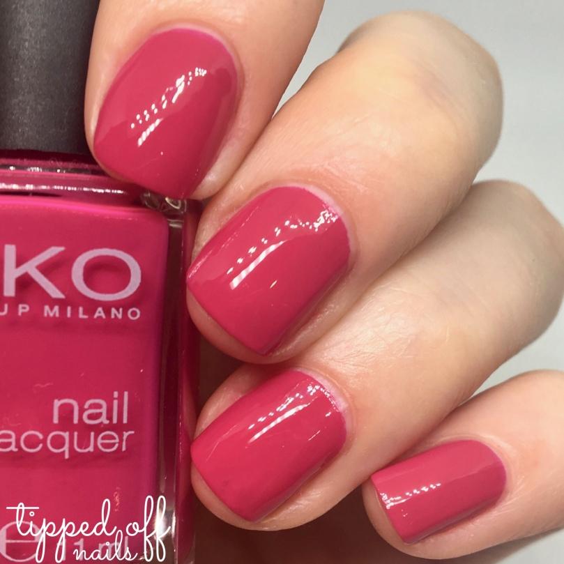 Kiko Milano Nail Lacquer Swatch 284 Dark Peony Pink
