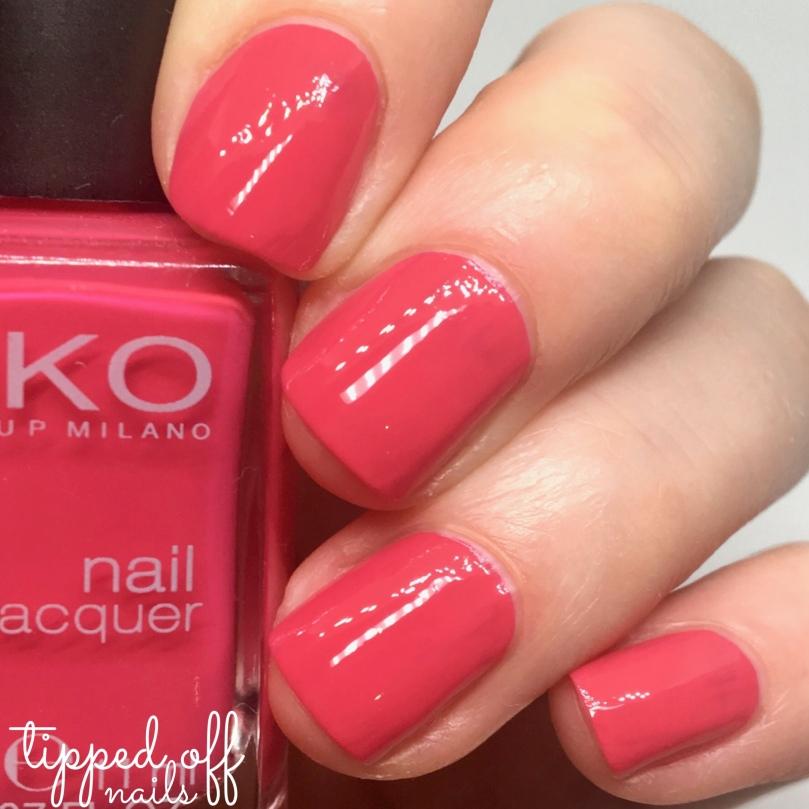 Kiko Milano Nail Lacquer Swatch 283 Dark Coral Pink