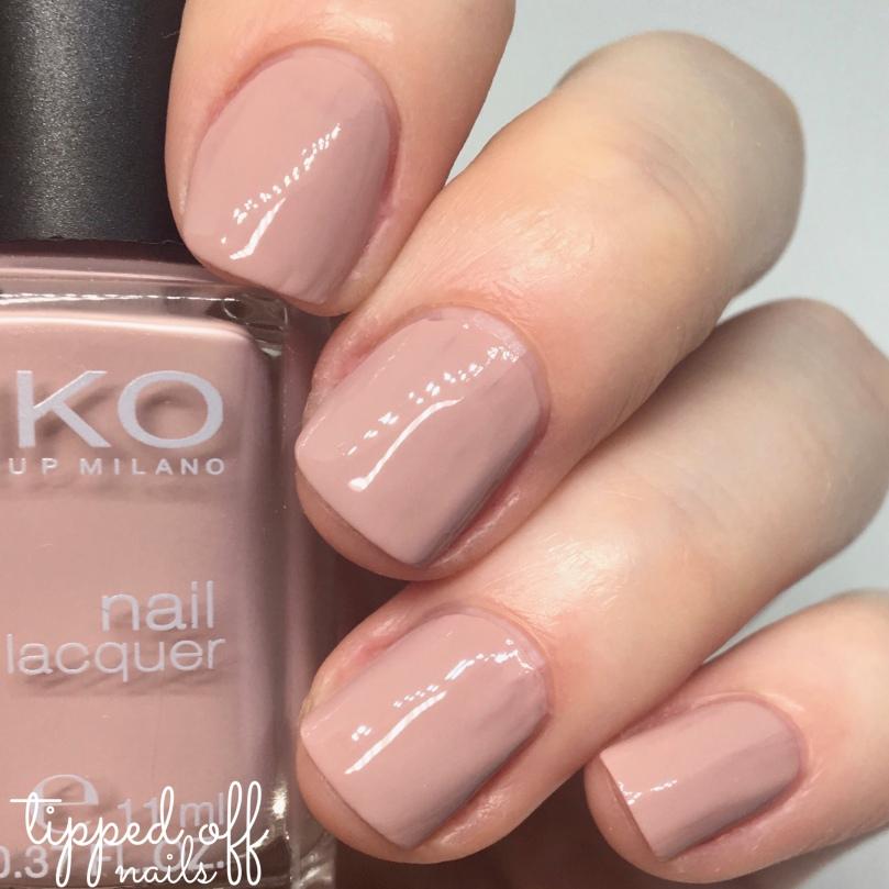 Kiko Milano Nail Lacquer Swatch 508 Rose Sand