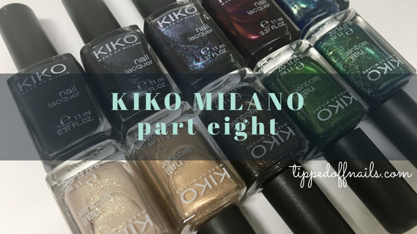 Kiko Milano Nail Lacquer Swatch Part eight