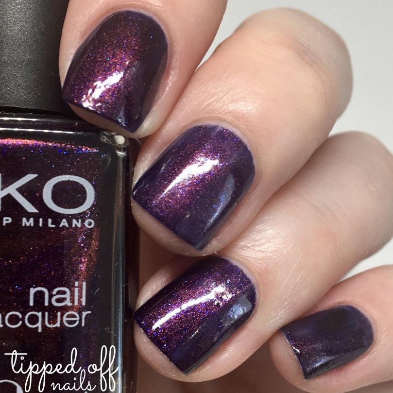 Kiko Milano Nail Lacquer Swatch 497 Pearly Indian Violet