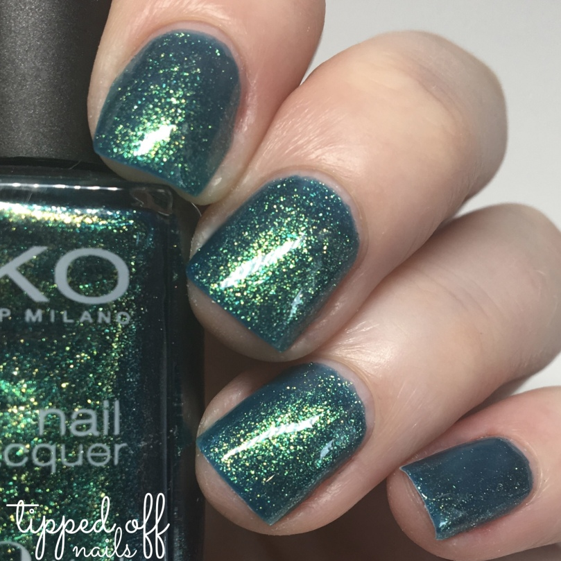 Kiko Milano Nail Lacquer Swatch 532 Pearly Amazon Green