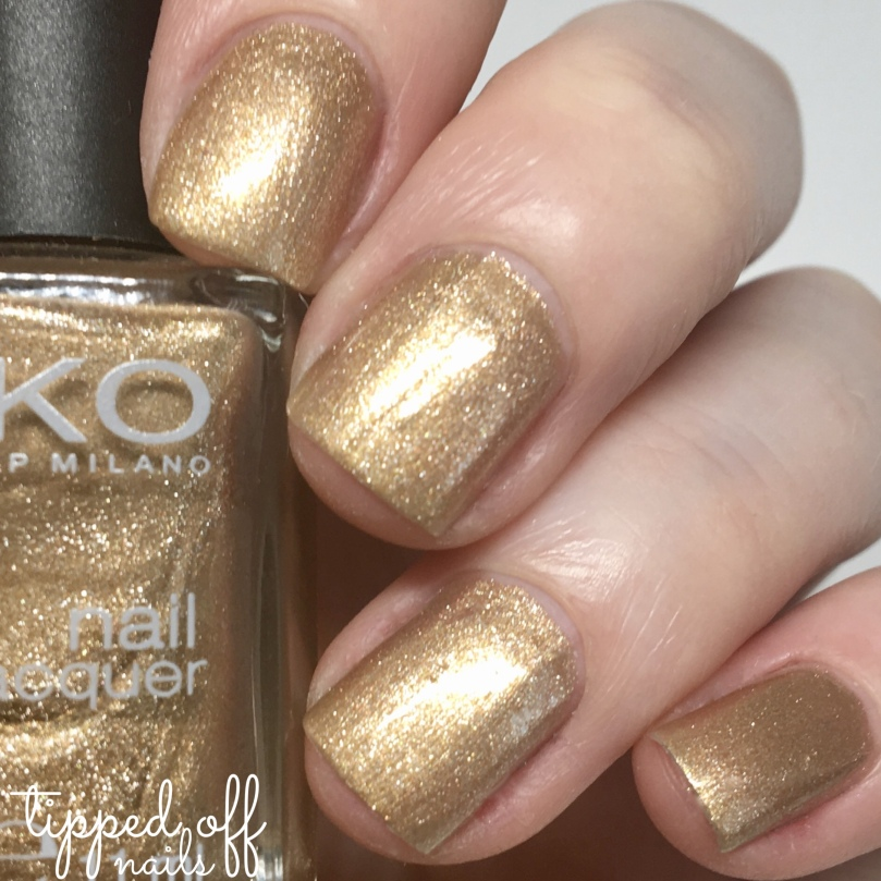 Kiko Milano Nail Lacquer Swatch 480 Pearly Golden