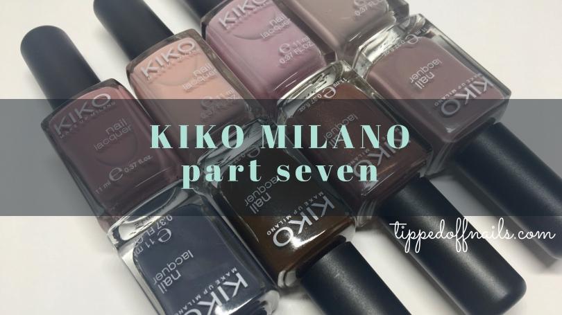 Kiko Milano Nail Lacquer Swatches part seven
