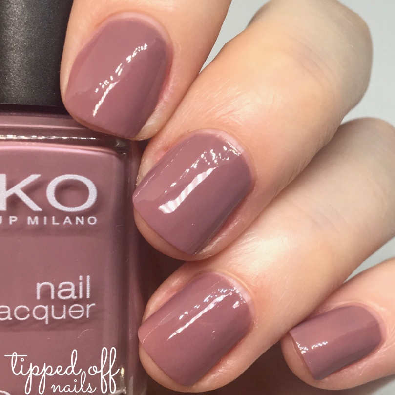 Kiko Milano Nail Lacquer Swatch 318 Light Mauve