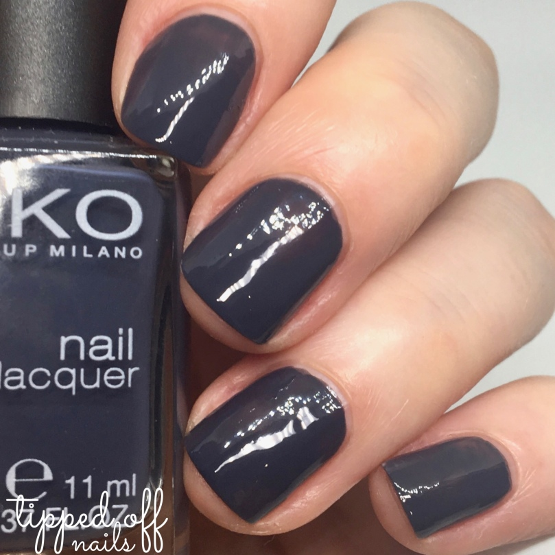 Kiko Milano Nail Lacquer Swatch 381 - Purple Grey