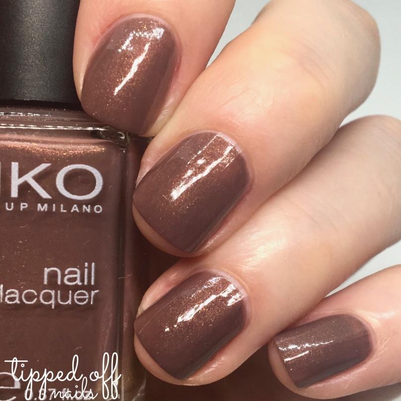 Kiko Milano Nail Lacquer Swatch 373 Burnt Sienna